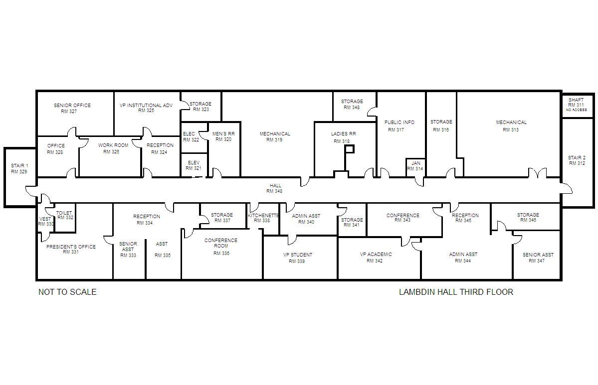 building-floorplan-lambdin-hall-level-three