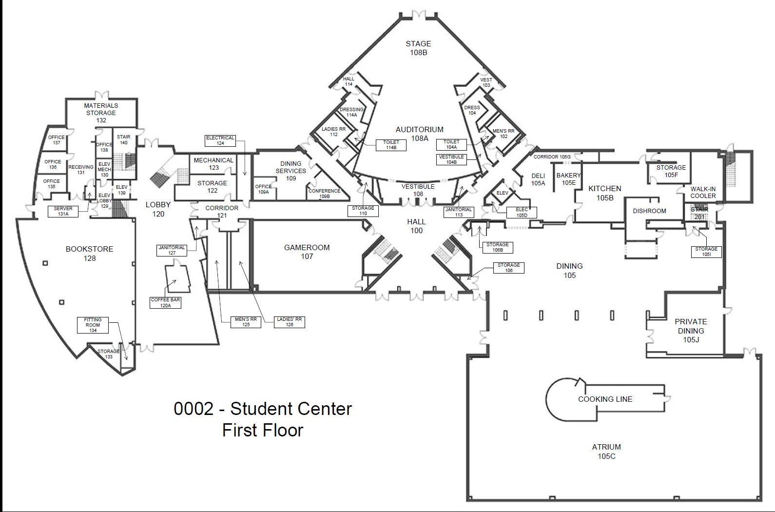 building-floorplan-student-center-level-one