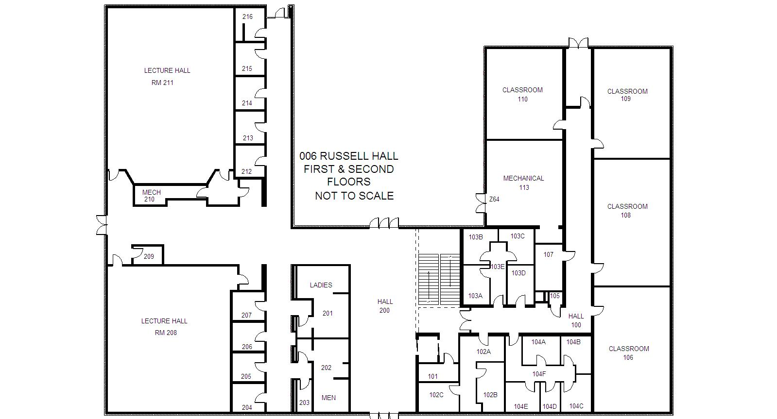 building-floorplan-russell-hall-level-one