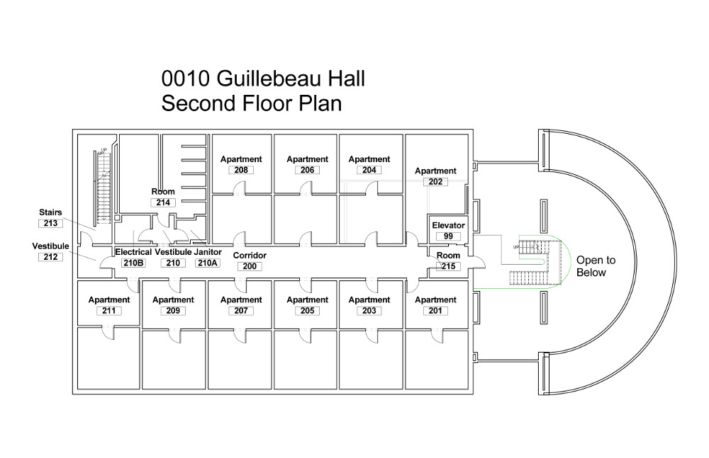 building-floorplan-guillebeau-hall-second-floor