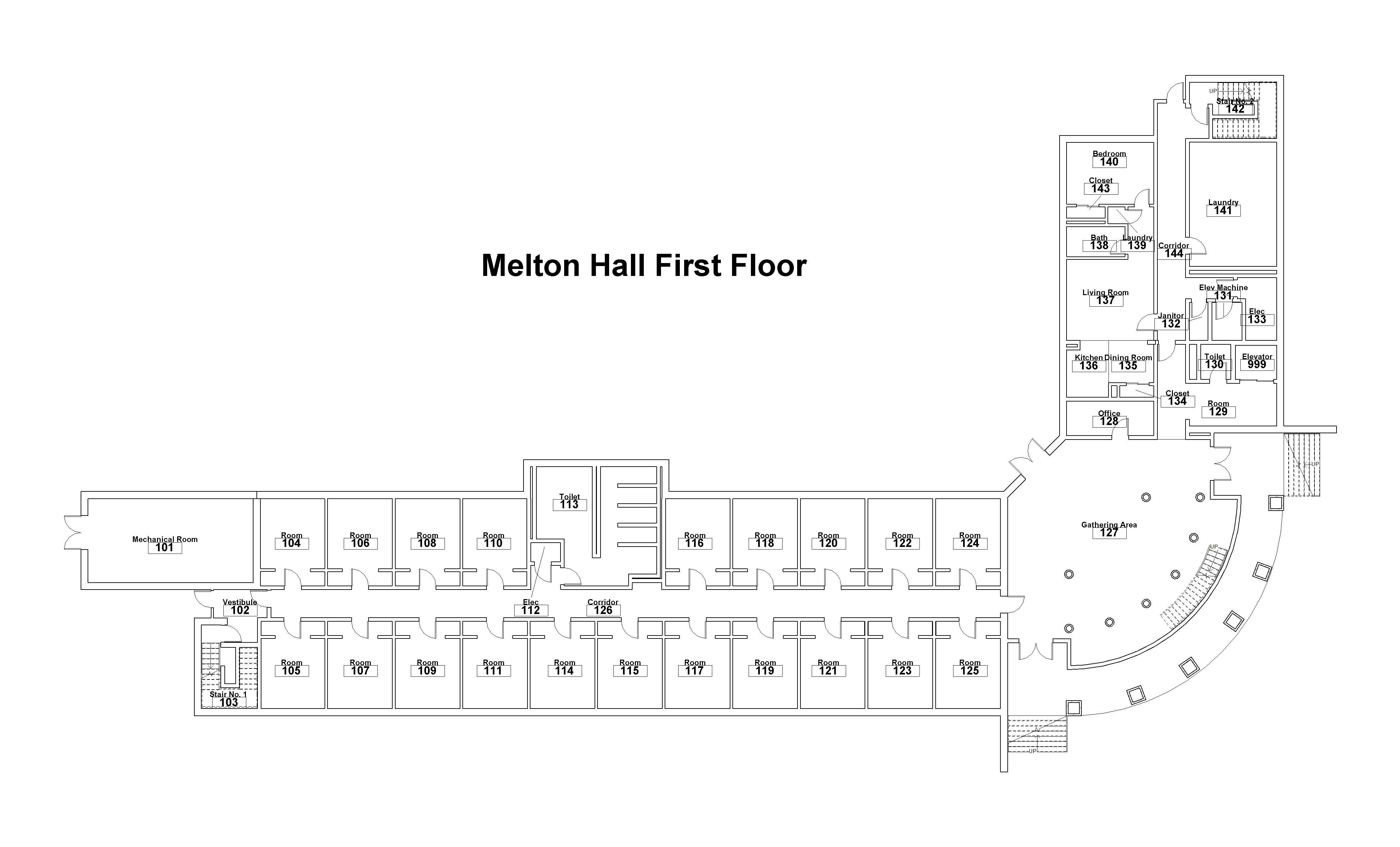 building-floorplan-melton-hall-floor-one
