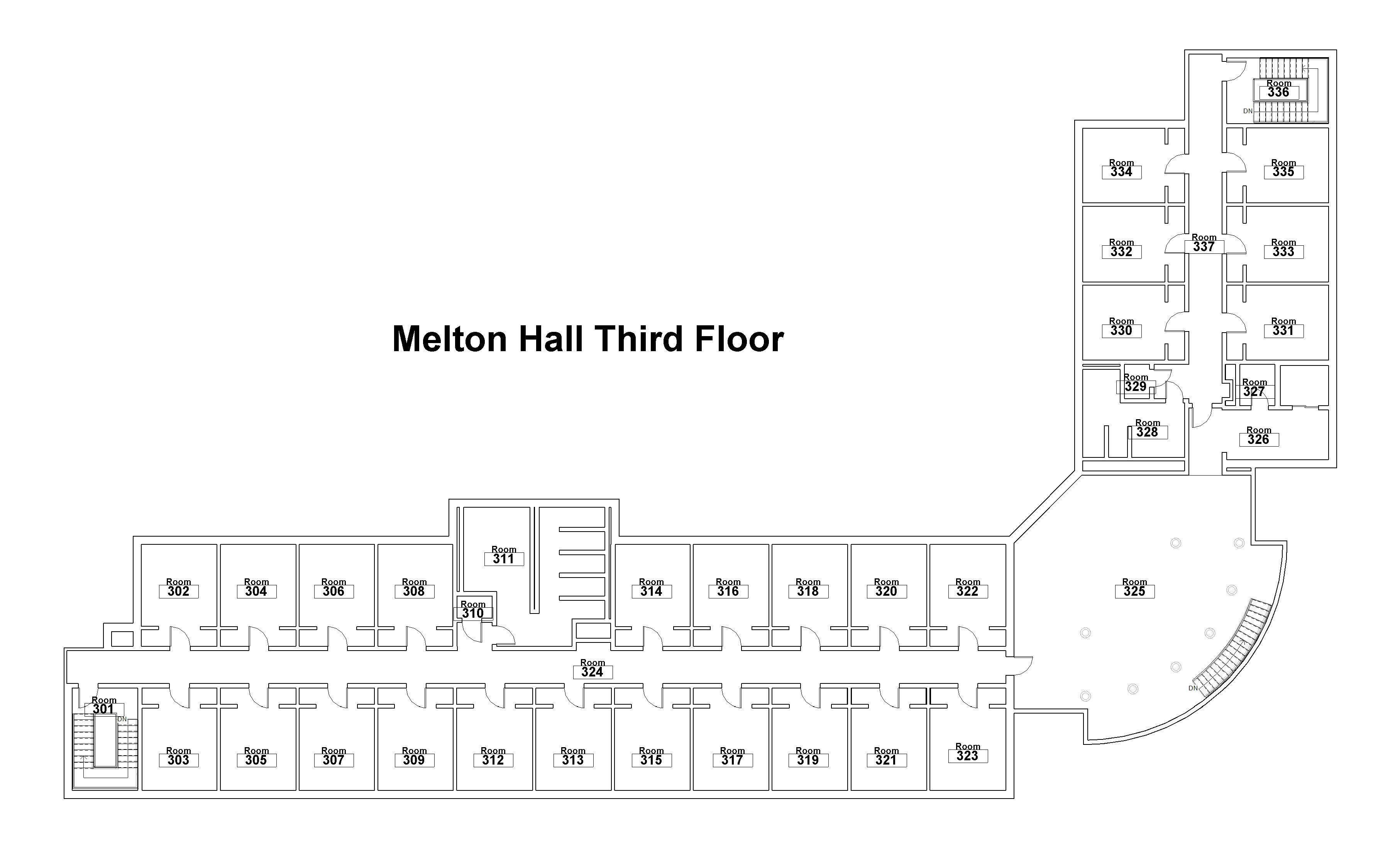 building-floorplan-melton-hall-floor-three