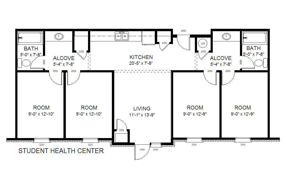 31b student health center gordon state college for Floor plans health care facilities