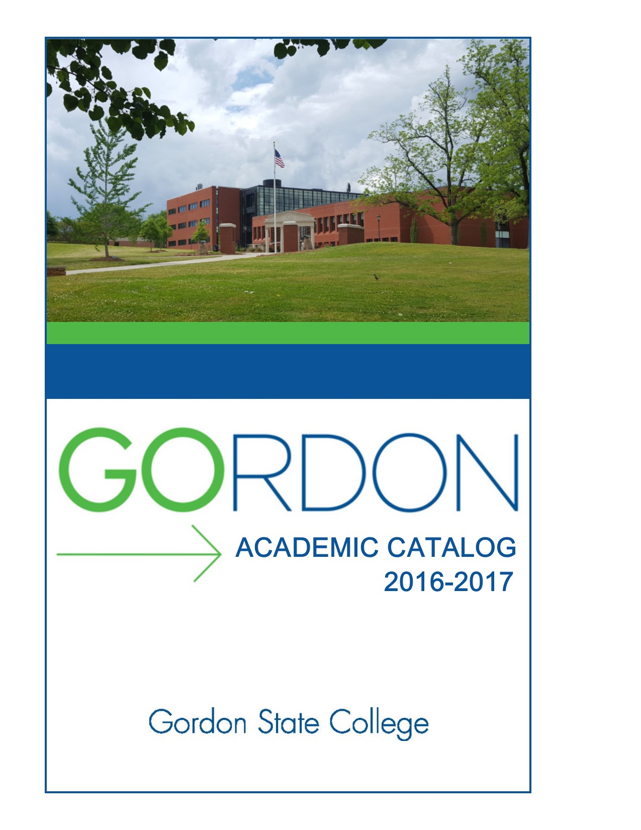 Academic Catalog Cover 2016-17