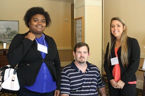 Conference attendees included Juleia Green, Daniel Brackett, Adrienne London