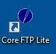 Screenshot of CoreFTP Lite shortcut on computer desktop