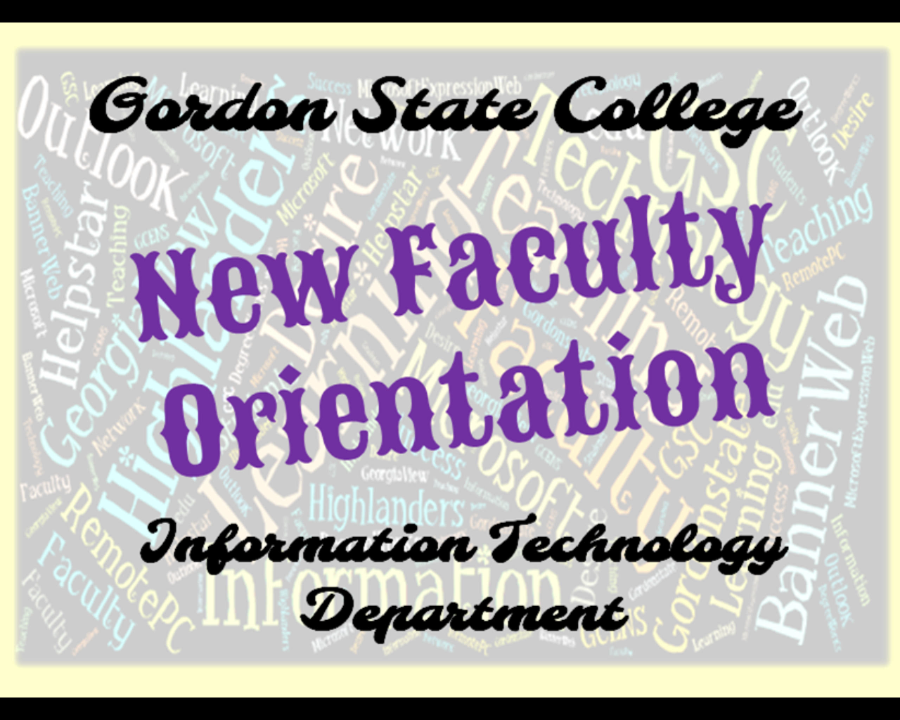 Faculty Orientation