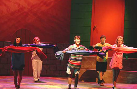 Photograph of the Charlie Brown musical production