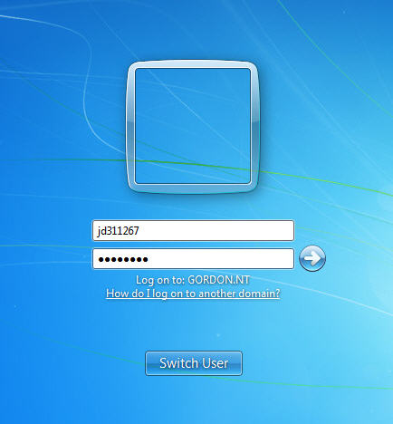 Windows 7 logon dialog box screenshot