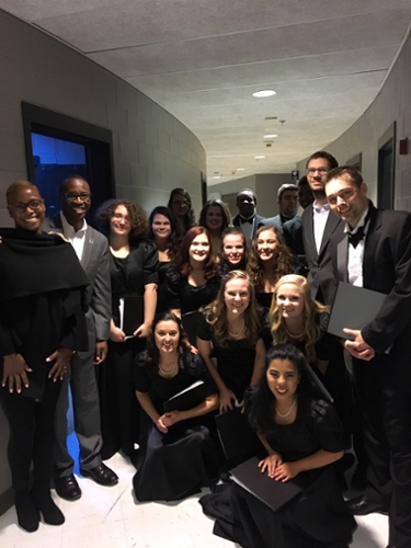 Dr. Nooks and wife with GSC Chorus