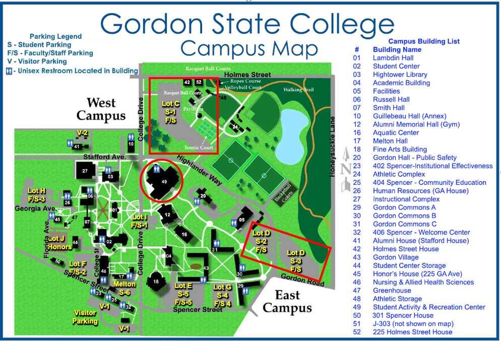 map of gordon state