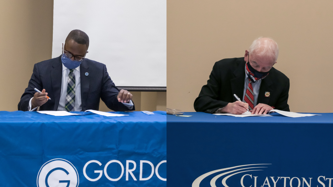 Dr. Kirk A. Nooks, President of Gordon State College and Dr. Tim Hynes, Jr., President of Clayton State University