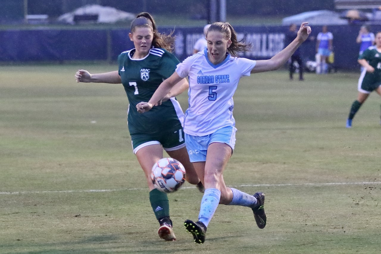 Ashley Hendrix completed a hat trick in Gordon State College's 10-0 victory over ABAC Tuesday.