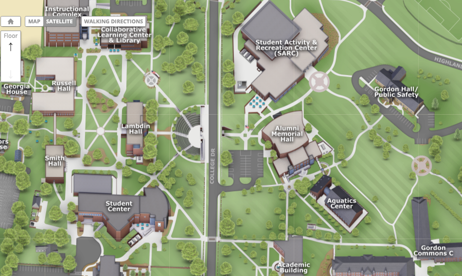 Interactive Map Of Georgia.Locations Directions Gordon State College