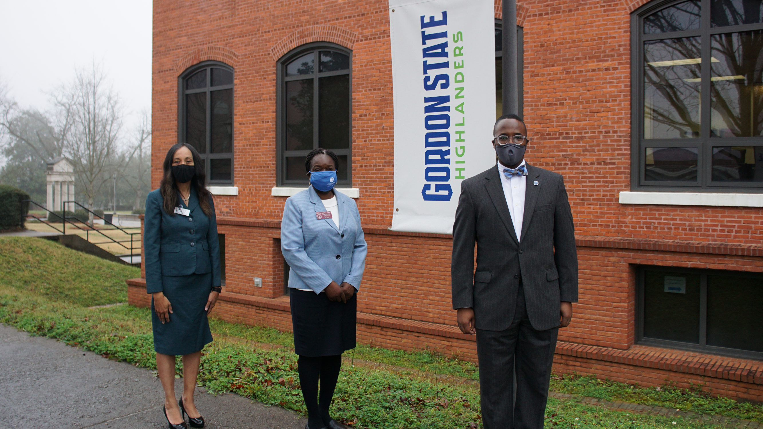 Montrese Adger Fuller, Executive Director of the GSC Foundation and Vice President for Advancement, External Relations and Marketing; Regina Lewis-Ward, Georgia House of Representatives member; and Dr. Kirk A. Nooks, GSC President.