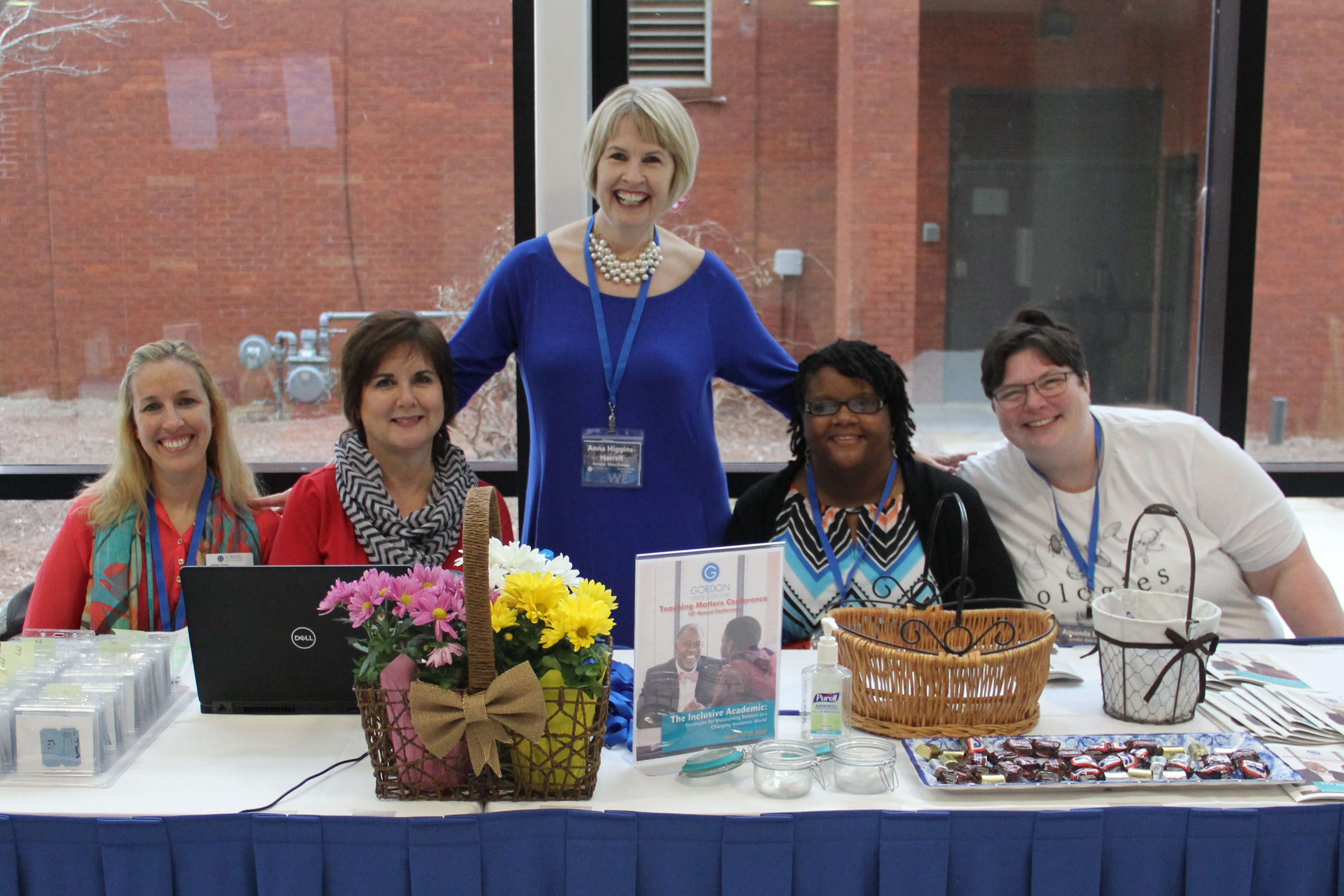the check in table at Teaching Matter 2019