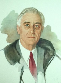 Franklin D. Roosevelt unfinished portrait