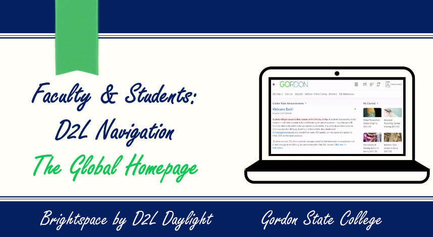 Faculty & Students: Navigating the D2L Global Homepage Video