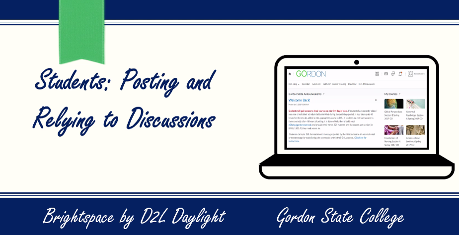 Students-Posting Discussions in D2L