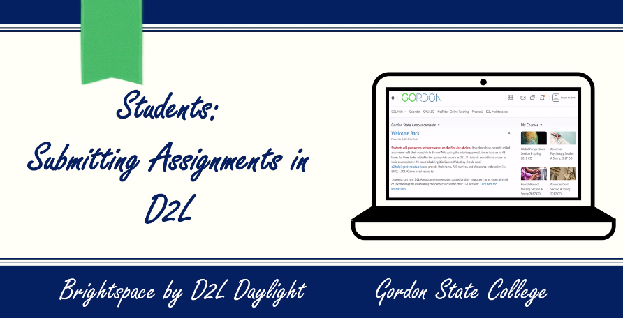 Students-Submitting Assignments in D2L Video