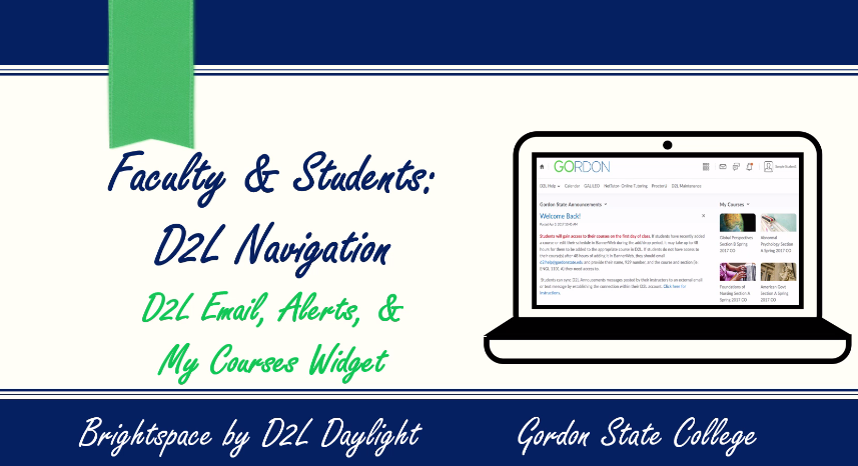 Students- D2L Email, Alerts, and My Courses Widget Video