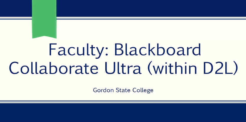 Video: Blackboard Ultra within D2L (for Faculty)