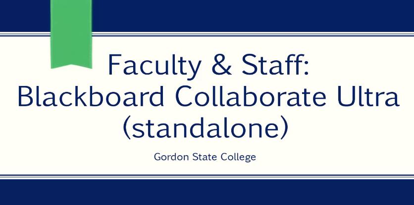 Video: Blackboard Ultra Standalone (for Faculty & Staff)